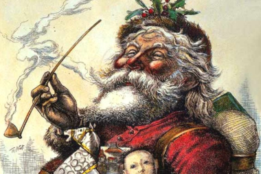 Painting of Santa Clause.