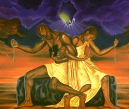Painting by Dana Baker called Spiritual Union