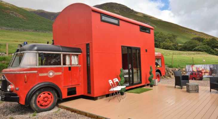 You Can Now Stay In A Converted Fire Engine With Stunning Views Of The Lake District