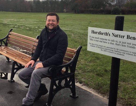 Socially-Distanced 'Natter Bench' Installed In Leeds To Help Tackle Loneliness