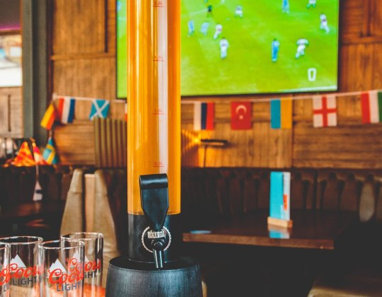 This Yorkshire Bar Is Selling Giant 6-Pint Beer Towers For The Euros & They Look Incredible