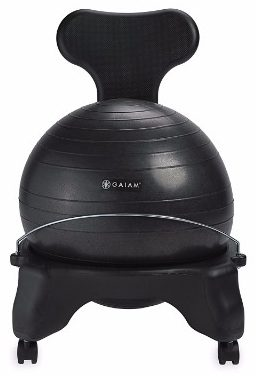 #1 Gaiam Balance Ball Chair - Classic Yoga Ball Chair
