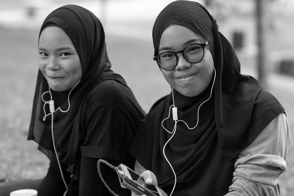 Sisters in Kuala Lumpur City Park 2016