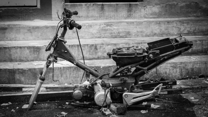 motorbike frame repair