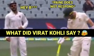 VIDEO: Virat Kohli gives a Mouthful ***** to Tim Paine when came to Bat