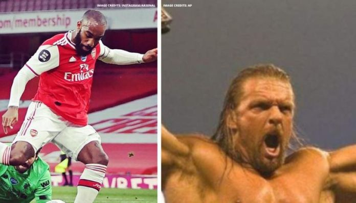 Arsenal using Triple H's theme song for home games.
