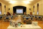 de Witt Hall set for the International Women's Gala held Wednesday, March 29.