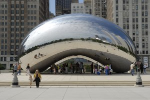 The Cloud Gate art in Chicago