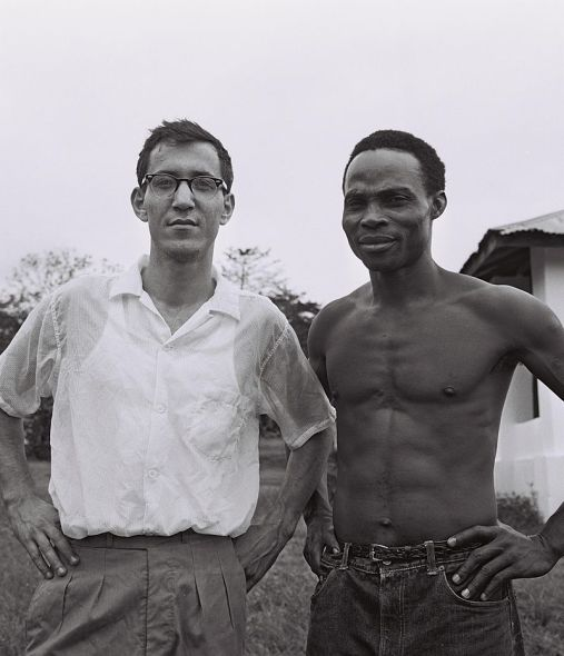 Tai Solarin with a guest from Israel at the Mayflower School, Ikenne, 1962 (Photo Credit: David Eldan)