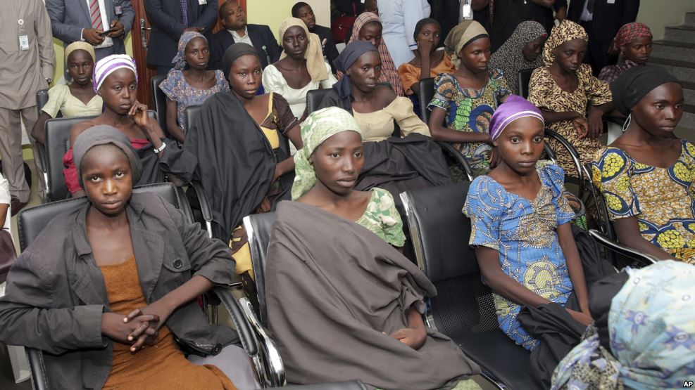 21 Chibok Girls were recently freed from Boko Haram captivity (October 13, 2016)