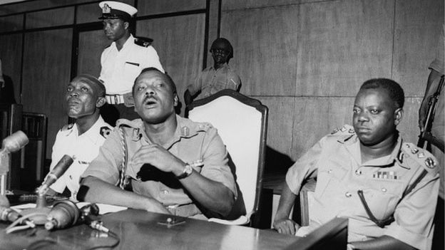 Gen. Johnson Aguiyi-Ironsi, Nigeria's military ruler after the Jan. 1966 Coup