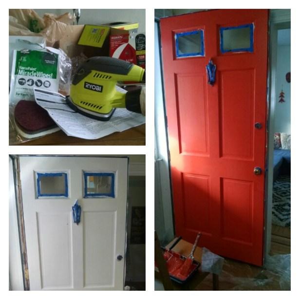 Front door painting project