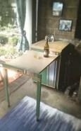 The repurposed bar cart.