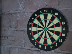 garage dartboard
