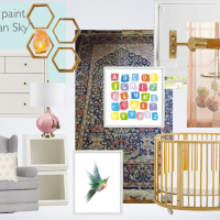Client Project: Modern Feminine Nursery in Michigan