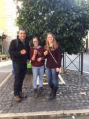 Lemon oranges in Rome, Italy