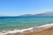 Blue waters of Patras, Greece