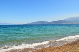 Blue waters of Patras, Greece