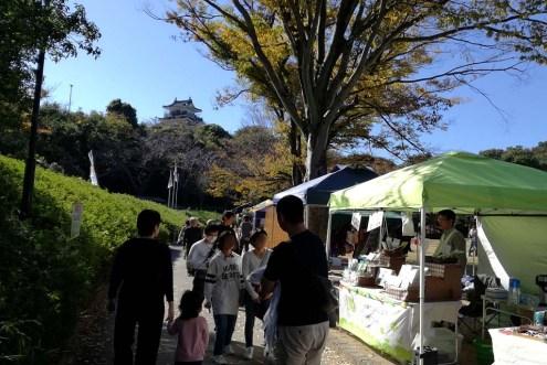 浜松城を望む
