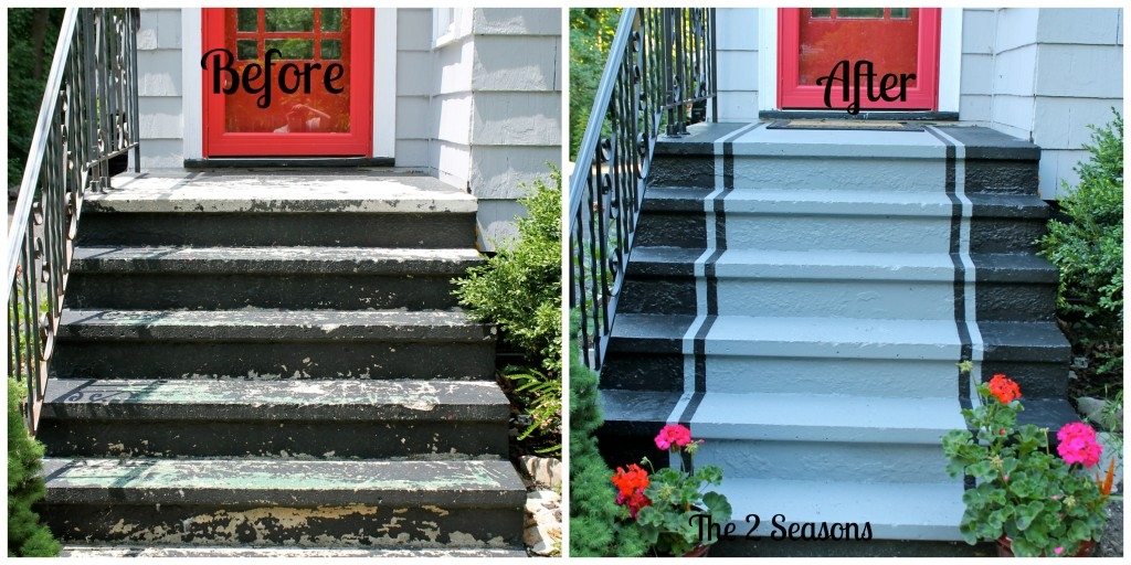 The 2 Seasons The Mother Daughter Lifestyle Blog | Painting Exterior Concrete Steps | Wood | Cement | Behr | Curb Appeal | Coating