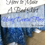 This Diy Bed Skirt Is Easy When You Use Dental Floss To Help