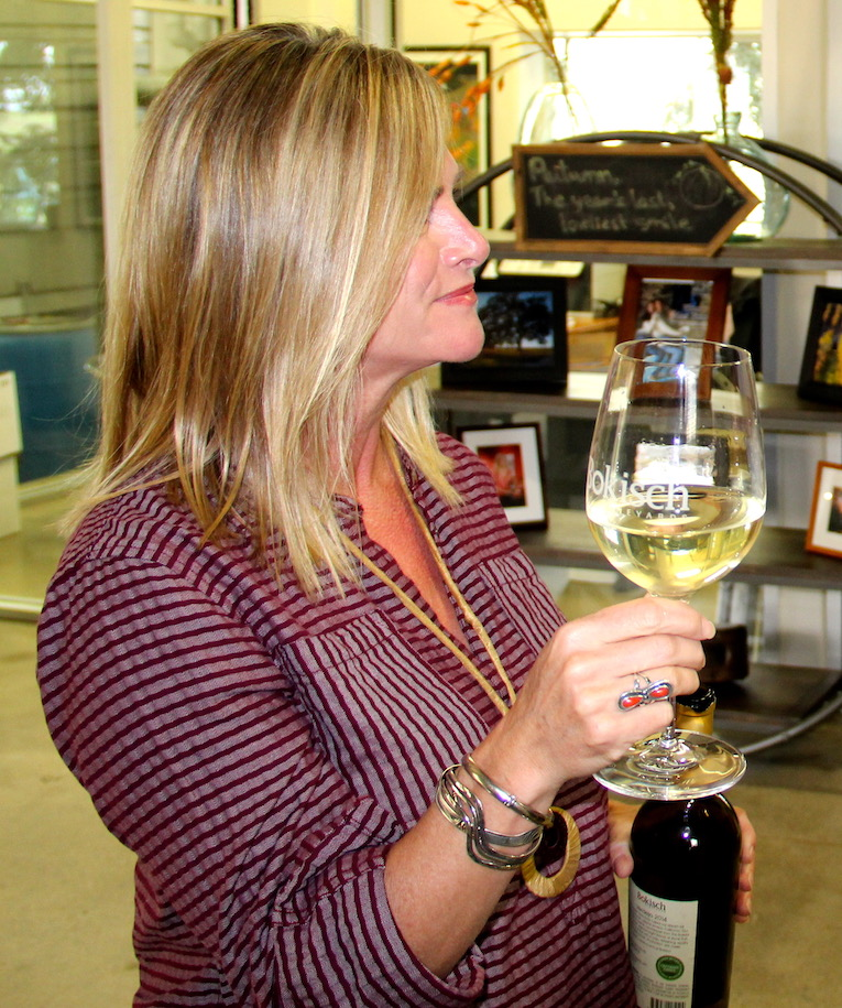 Liz Bokish at Bokish Vineyards