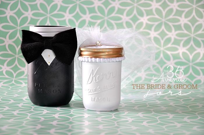 Mason Jar Crafts – Groom & Bride