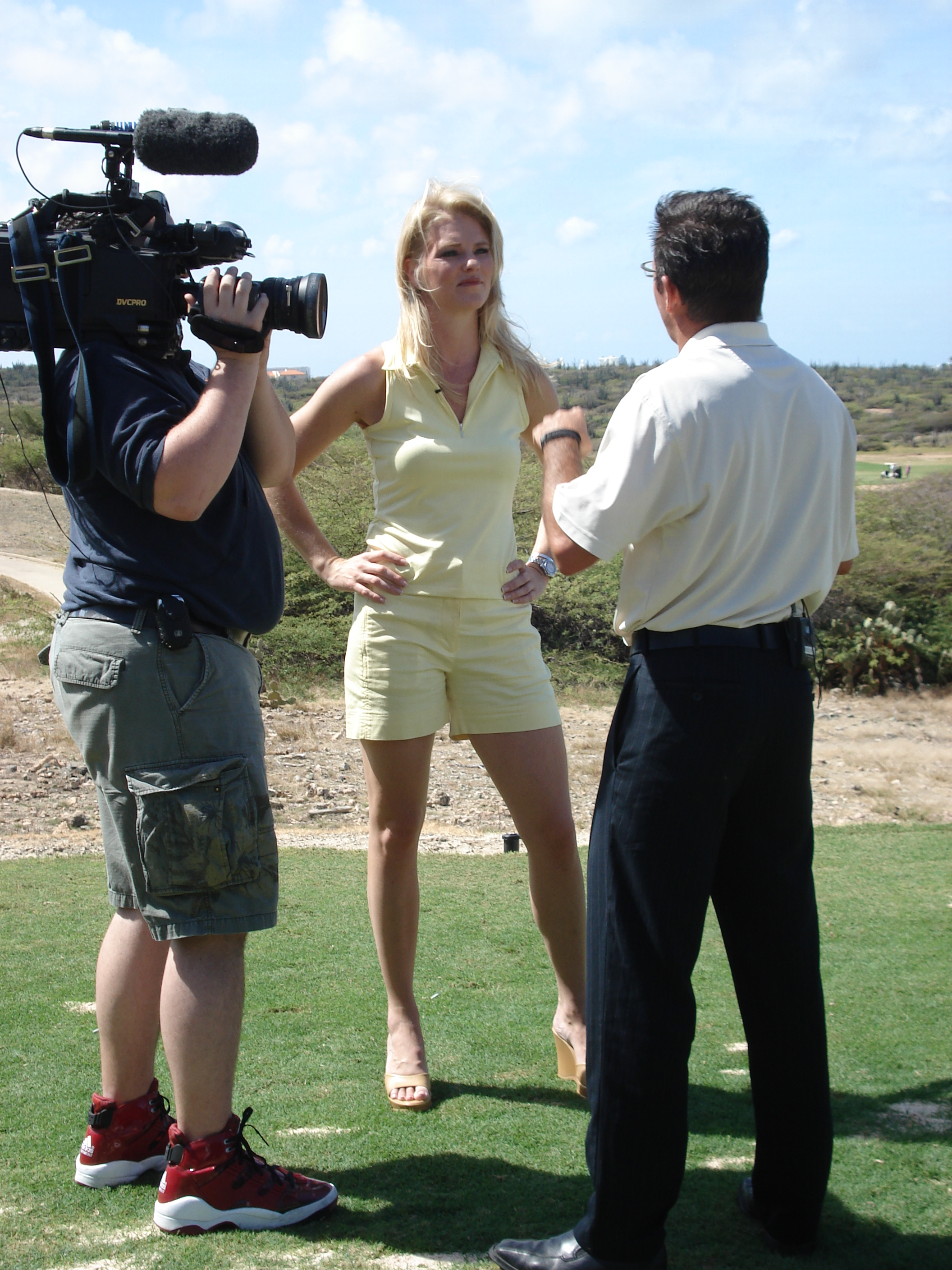 Corinna with Oliver the Golf Pro