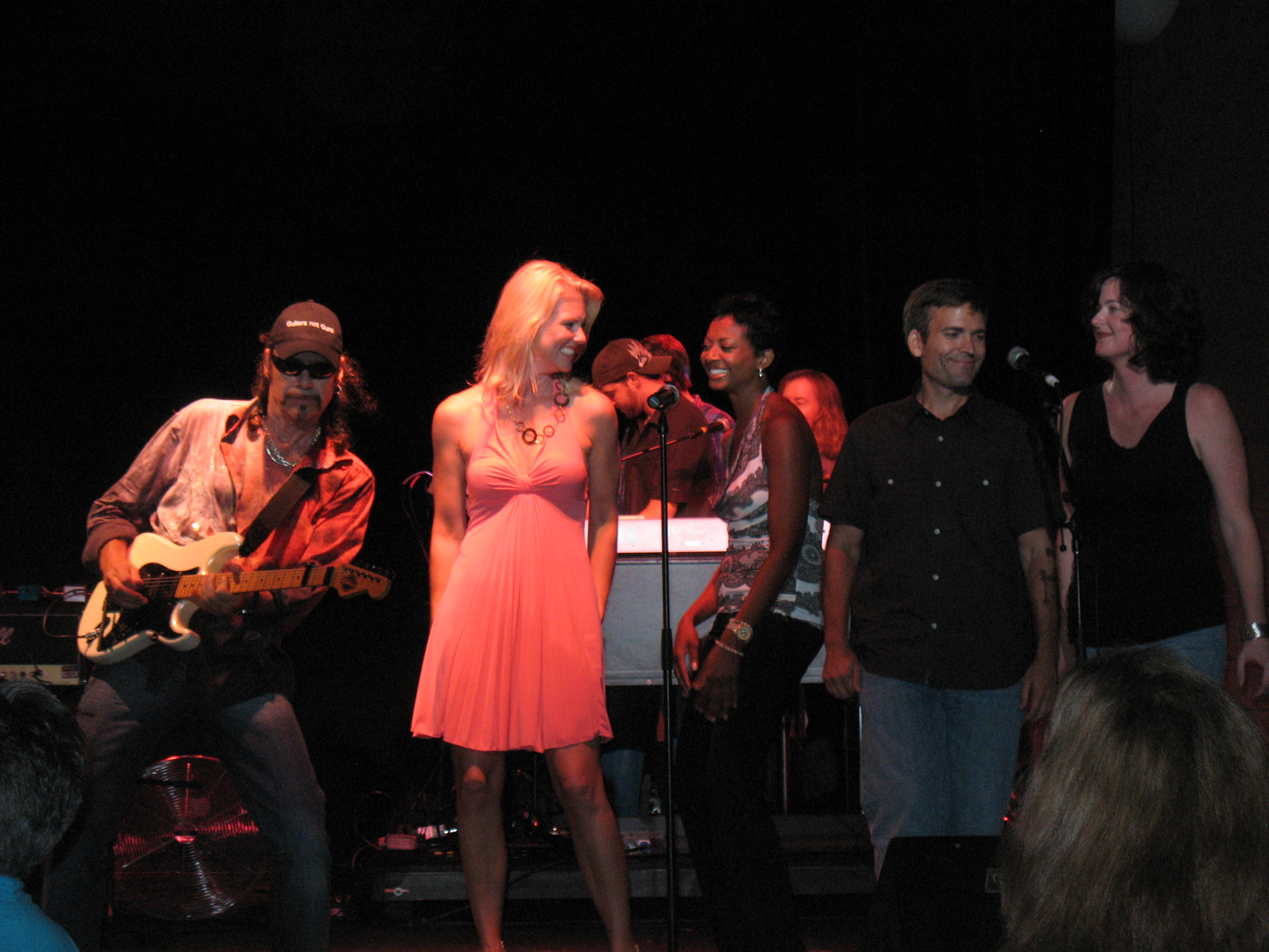 Corinna on stage with the World Classic Rockers
