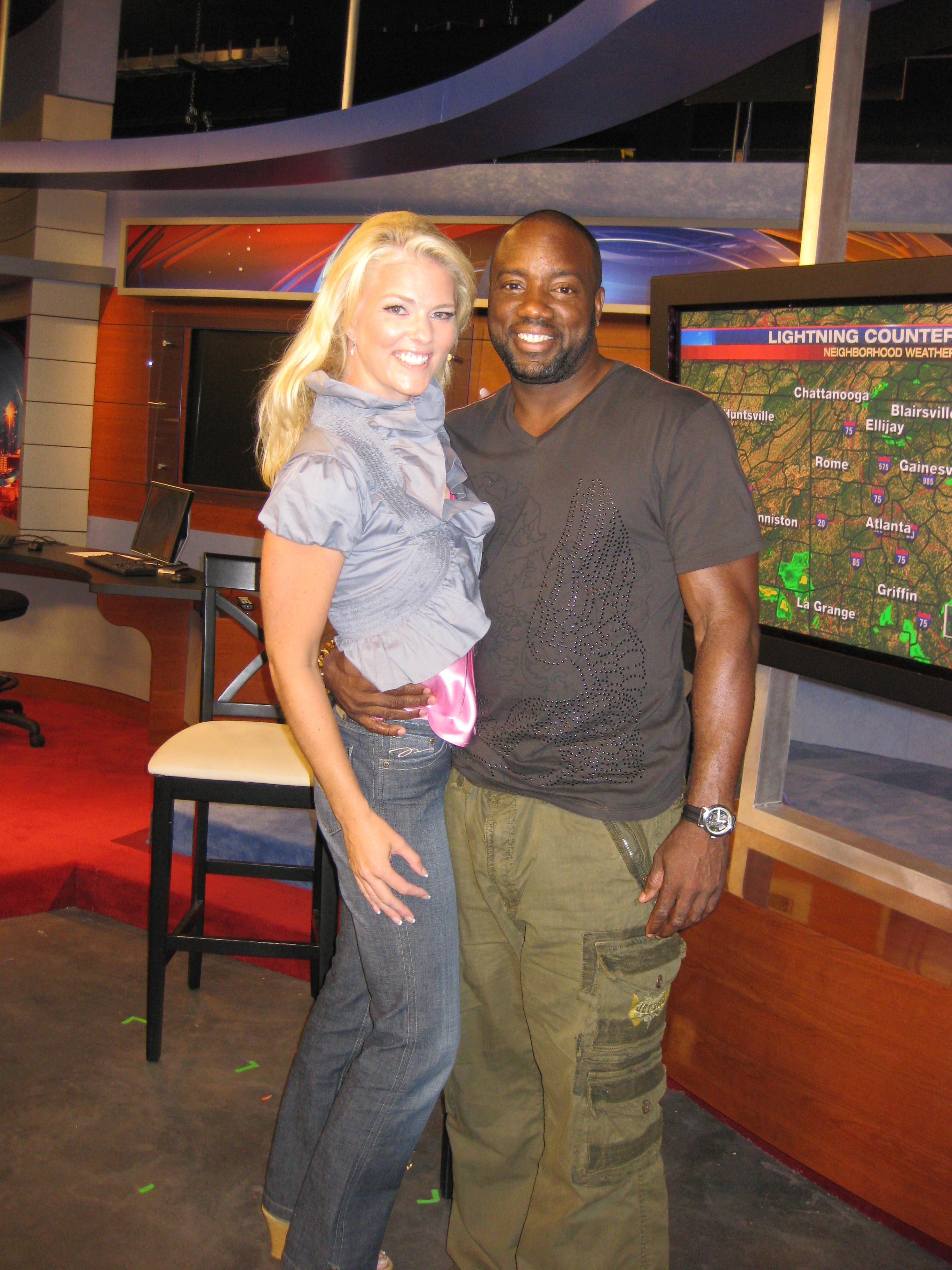 Corinna with Malik Yoba
