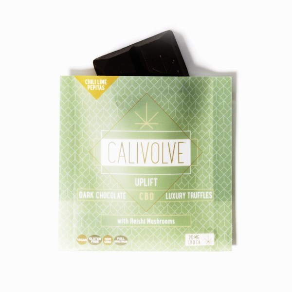 Calivolve Uplift Chili Lime Pepitas CBD Dark Chocolate
