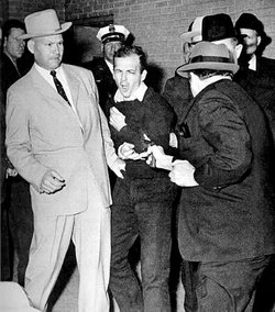 Jack Ruby shoots Lee Harvey Oswald