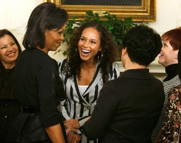 The First Lady chats with Fran Drescher and Alica Keys