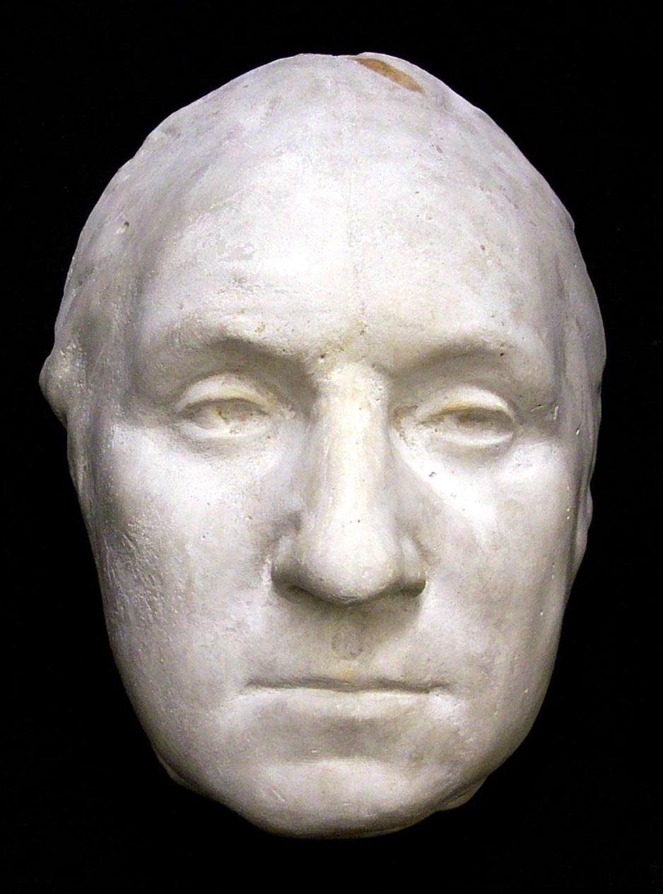 George Washington life mask, from the original Houdon statue, 1785