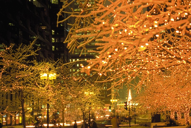 Christmas Lights in Old Montreal