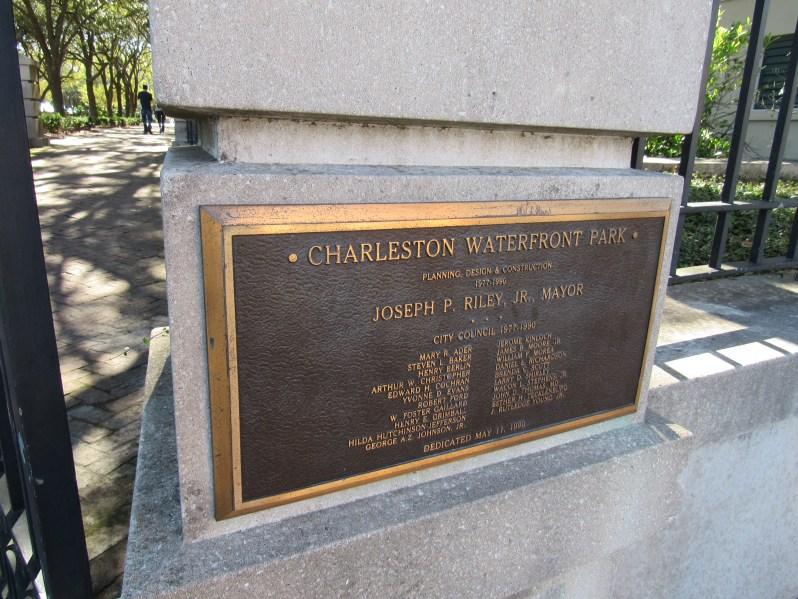 Charleston Waterfront Park Marker