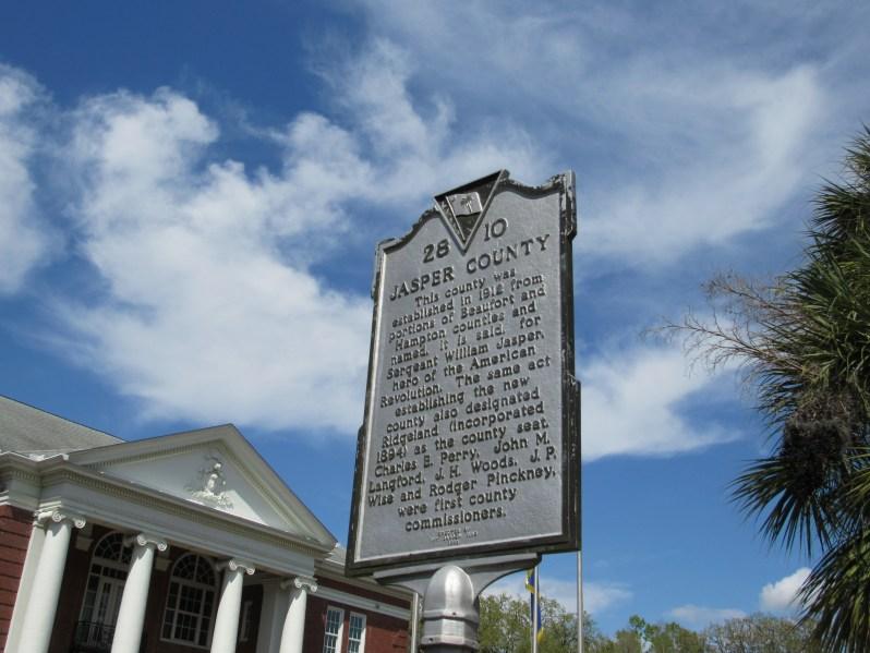 Jasper County historical marker