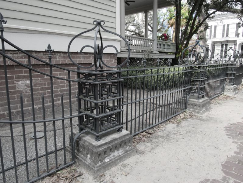 Cement base fencing