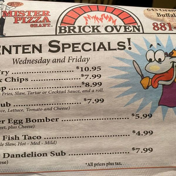 Lenten Specials