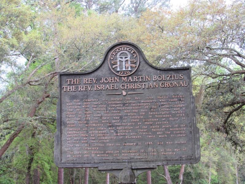 Georgia Historical Marker At Ebenezer