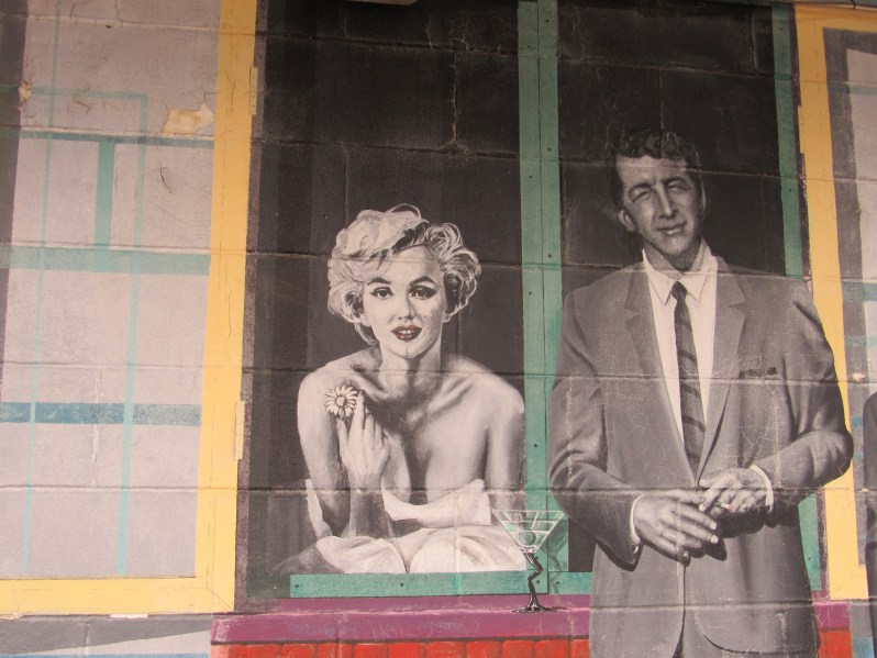 Marilyn Monroe and Dean Martin Mural