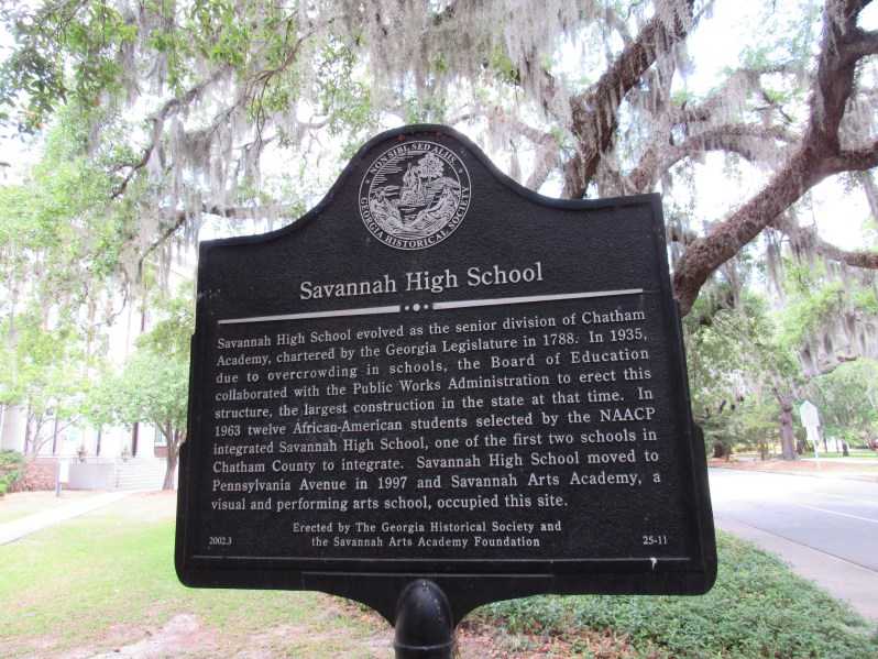 Savannah High School historical marker