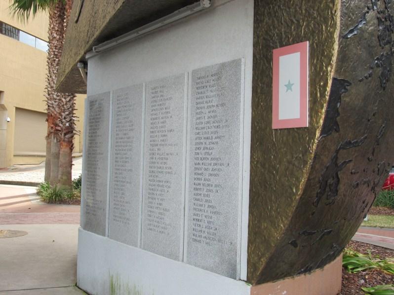 War monument tribute