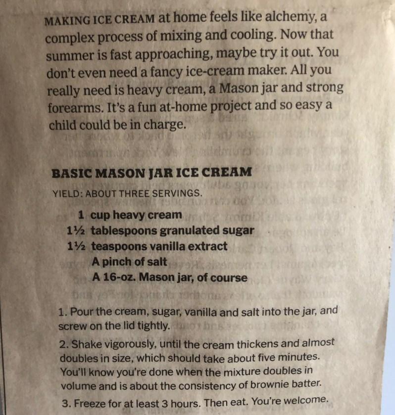 Mason Jar Recipe