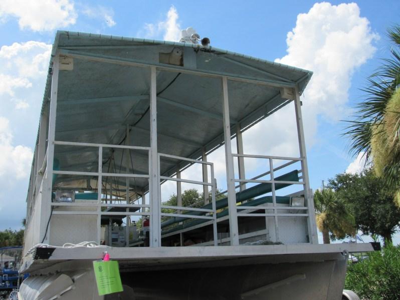 Tour boat deck