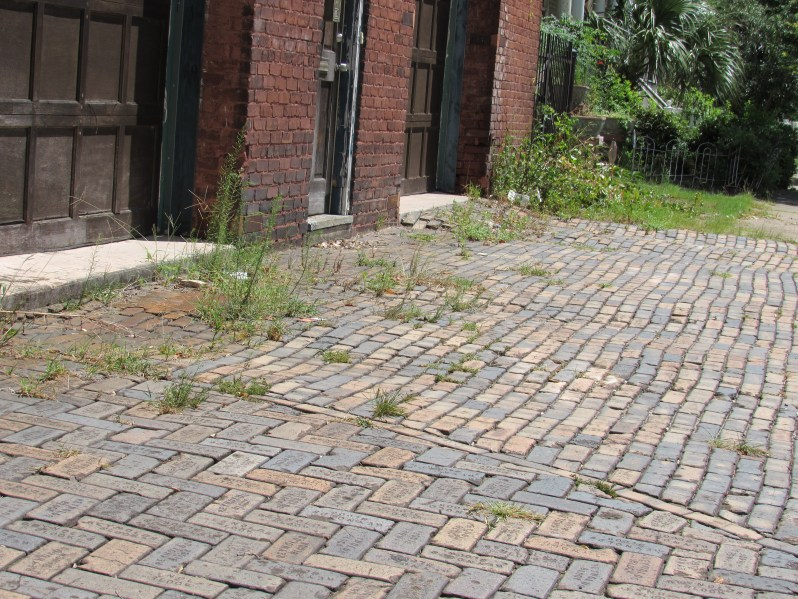 Stamped brick drive up