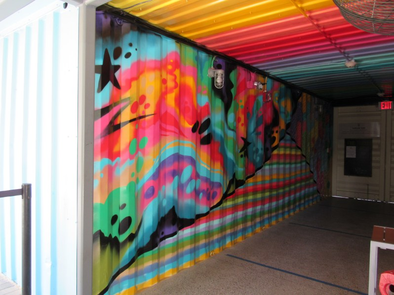 Mural in container car