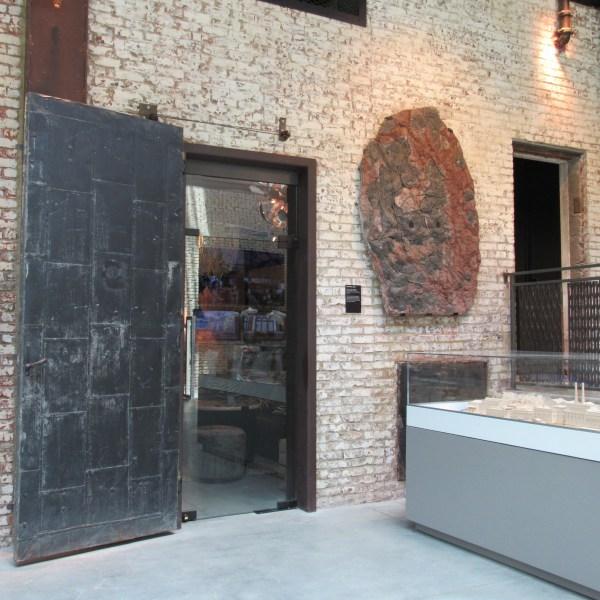 Heavy metal sliding door