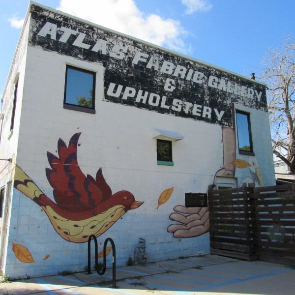 Upholstery shop mural