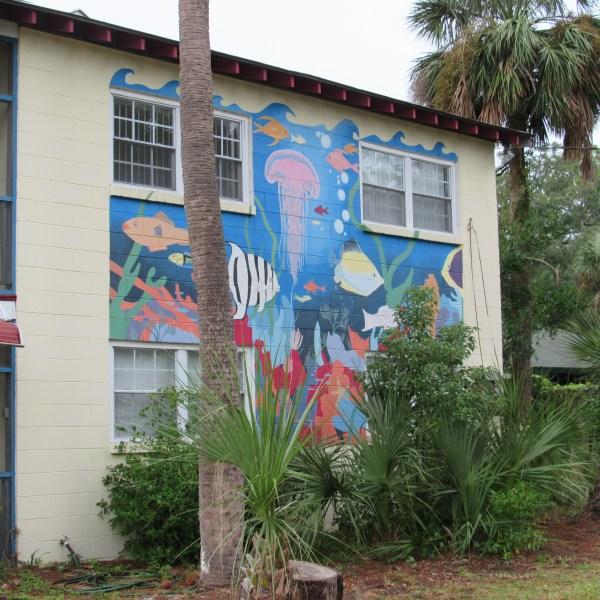Beach house mural
